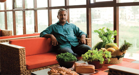 The Green Path; (top left) Manjunath Pankkaparambil runs Lumiere, a landmark organic restaurant in Bengaluru's suburb