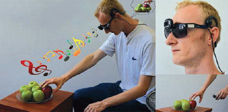 EyeMusic converts the scene in front of a person into musical notes