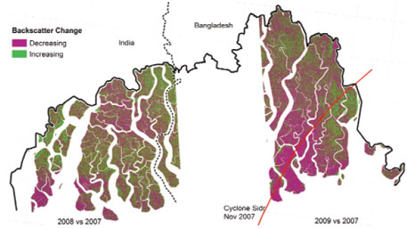 Recent habitat degradation in the Sundarbans