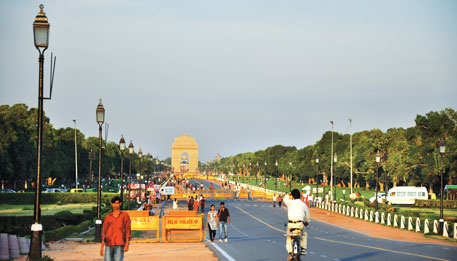 The least affected of the seven heat hot spots is the India Gate area