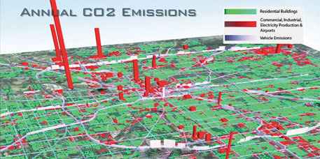 A building-by-building map of emissions in Indianapolis, in the US