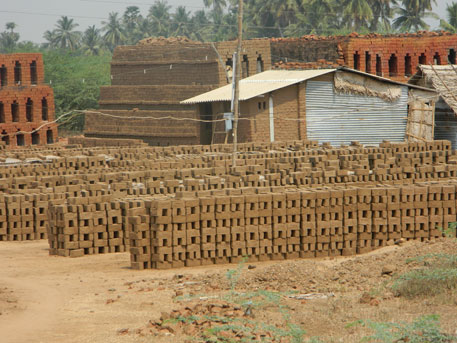 When farmers are unable to grow crops, the land is taken away by brick kilns