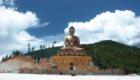 51-metre-tall Buddha statue is being built on a mountain in Thimphu for centennial celebration of Bhutanese monarchy