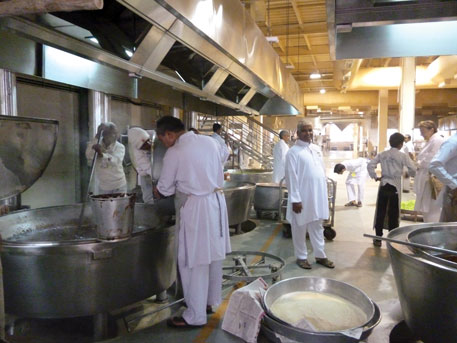 The kitchen's capacity is being increased to cook meals for 50,000 people at one go