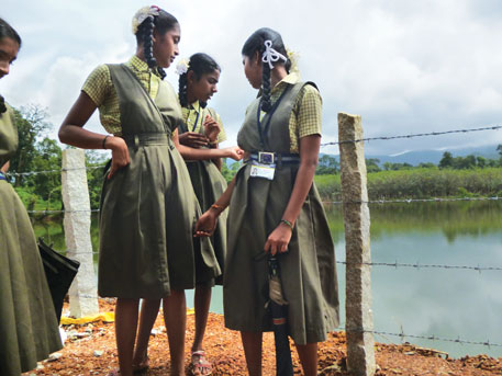 The pond in Hoshangre panchayat in Udupi district was fenced on children's demand