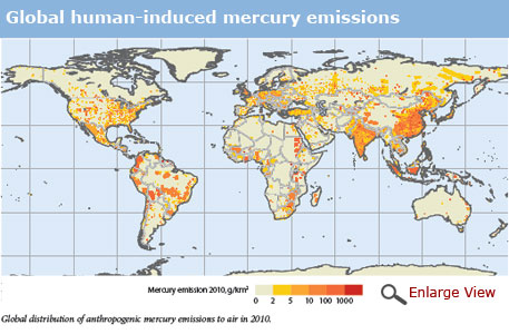 Amount of mercury in environment grossly underestimated