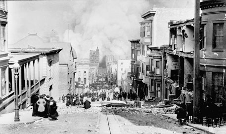 Sacramento Street, San Francisco, on April 18, 1906
