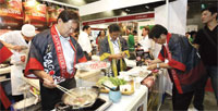 Japanese delicacies served at the Singapore food fest