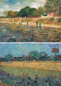 Van Gogh's changing colours