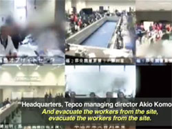 Videos released by Tepco are grainy and mostly muted