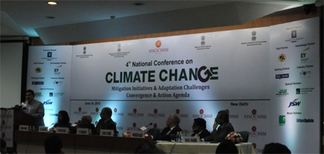 ASSOCHAM hosted the event on climate change to facilitate a discussion among the government, industry and civil society (Credit: Shreeshan Venkatesh)