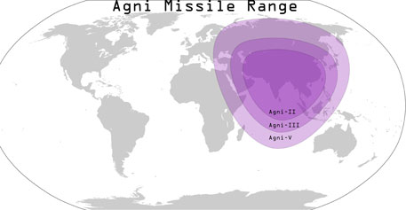 Agni missile range