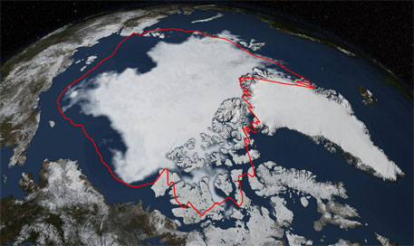 Arctic sea ice reaches sixth lowest level since 1978