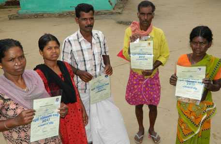 The state government has been distributing title deeds to uncultivable and uninhabitable land to the tribal people