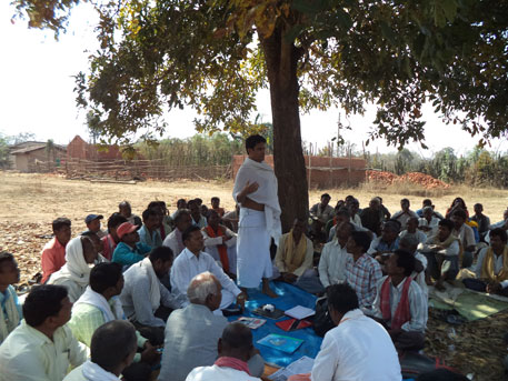 People from affected villages held a meeting on Wednesday at a village on the outskirts of the proposed sanctuary to take the pledge, which would be taken to respective gram sabhas for ratification (courtesy B K Manish)