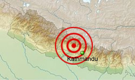 Fresh tremors shake Nepal, India