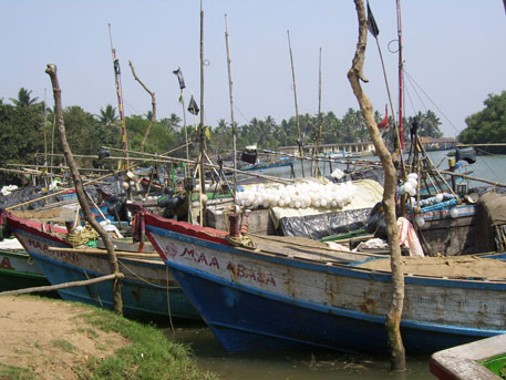 Most fishers have already tied up their boats following cyclone warning