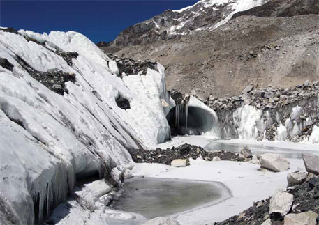 Over glacier cover in Nepal has reduced from 3.6 per cent to 2.6 per cent since 1980 and 2010