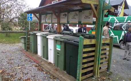 Garbage bins kept at regular intervals in the city