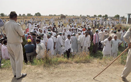 Forced land acquisition has led to many violent clashes in recent years, like the one in Greater Noida in Uttar Pradesh in 2012 (DTE file photo)