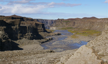 Three major floods created Iceland's canyon