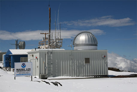 A file photo NOAA's Mauna Loa observatory in Hawaii which records factors that may contribute to climate change (Photo courtesy: NOAA)