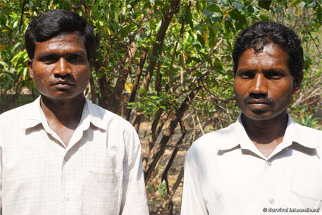 Munda men from Jamunagarh village are resisting attempts to relocate them, found Survival International in a recent visit to Simlipal (Photo: Survival International)