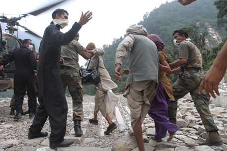Army evacuating pilgrims from Gaurikund post Uttarakhand floods
