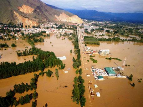 Srinagar under water