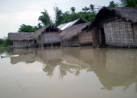 Floods kill four in Assam; destroy crops