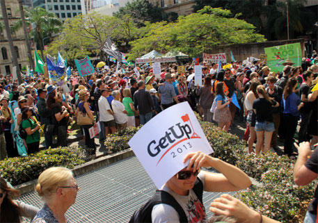 A rally in Australia to protest against the project (Photo: Stephen Hass/Flickr)