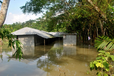 "Homes remain inundated in Bhola for over five months. United Nations Development Programme (UNDP) has identified Bangladesh as ""most vulnerable"" to tropical cyclones"