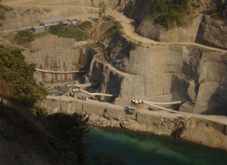 File photo of construction site of Lower Subansiri dam (Photo by Amarjyoti Borah)