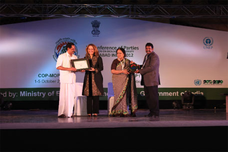India Biodiversity Awards 2012 go to six pioneers in biodiversity governance