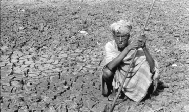 Broken earth, broken lives: a farmer in Balangir sits on his fallow field