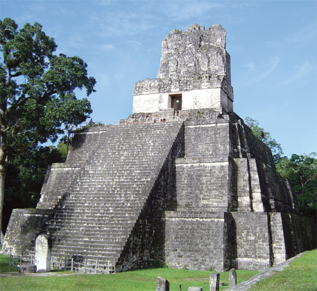 The temple that ruler Jasaw Chan K'awiilI built in Tikal in 700 AD