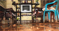 Muddied water floods North Goa
