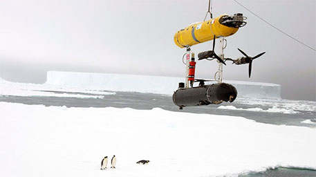 The underwater robot, called SeaBed, measures 2 metres in length and weighs nearly 200 kg