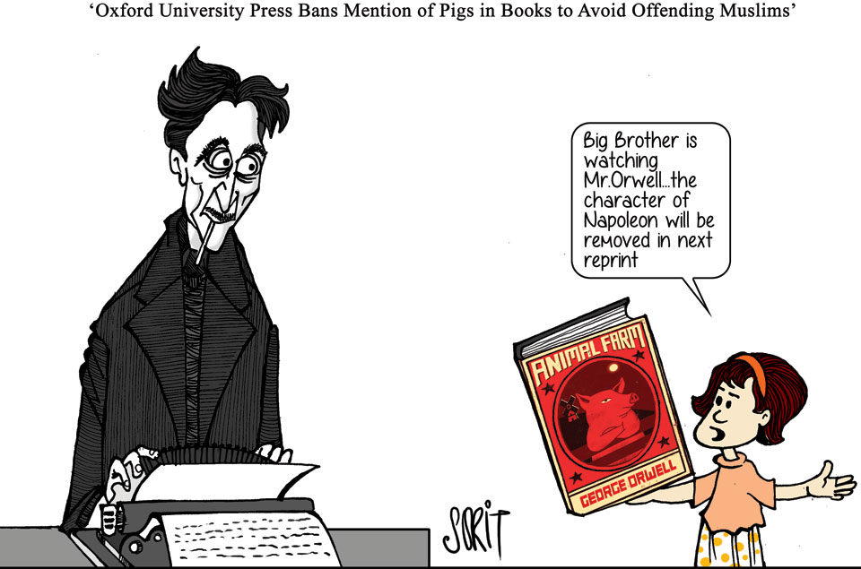 Graphic Editor Sorit Gupto on Oxford University Press ban over mention of pigs