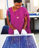 Indian solar equipment manufacturers say cheap solar equipment imported from China, US and other countries puts them at a disadvantage (Photo: Meeta Ahlawat)