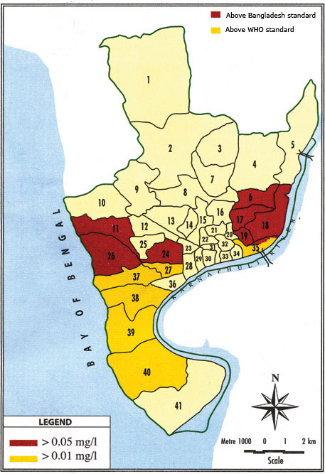 Figure-5. Arsenic affected wards within the city