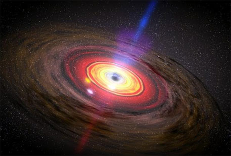 Black hole producing mysterious particles, says NASA