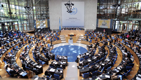 Plenary meeting at the World Conference Center, Bonn (Credit: IISD)