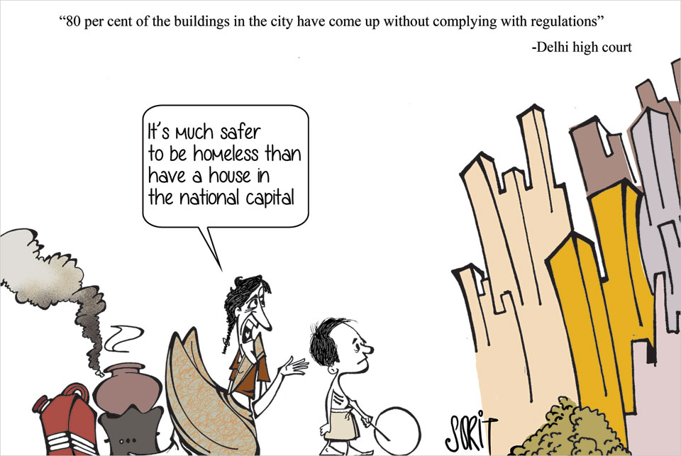 Graphic Editor Sorit Gupto asks where Delhi's safe homes are