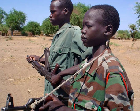 Non-state actors violate the fundamental rights of children by inveigling them in armed conflict