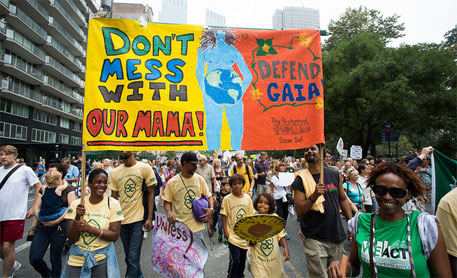 Public gatherings in about 150 countries from across the world show solidarity and urge world leaders to take decisive action on climate change (Source: peoplesclimate.org)