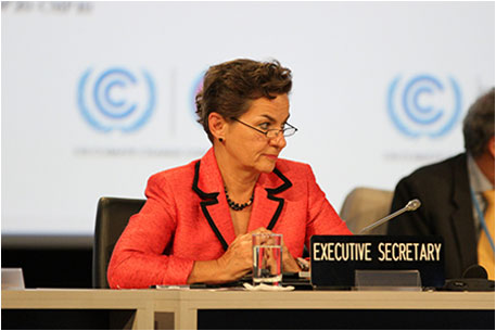 European Parliament members will meet Christina Figueres, executive secretary of UNFCCC, other key negotiators along with Parties from other parliaments to push for enhanced emission cut commitments (Photo courtesy IISD)
