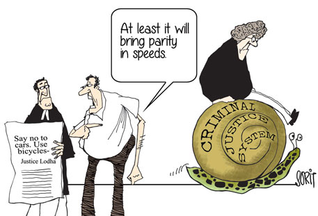 Graphic Editor Sorit Gupto's take on Justice Lodha's bicycle remark