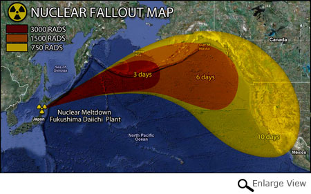 Scientists project path of radiation plume from Japan's nuclear reactors