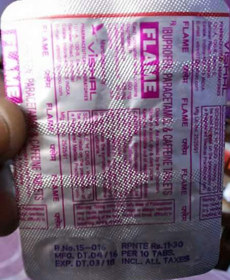 Incorrect manufacturing date on painkiller strip creates a flutter on social media